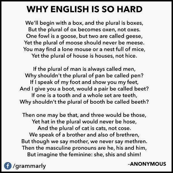 Why is English so Hard
