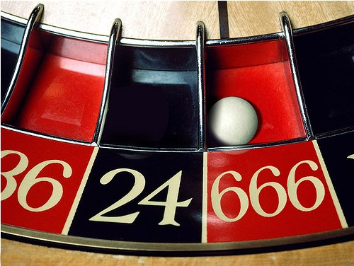the number of the beast on a roulette 666