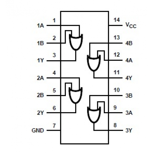 Quad 2 Input Or Ic Pin Diagram Wire Diagrams
