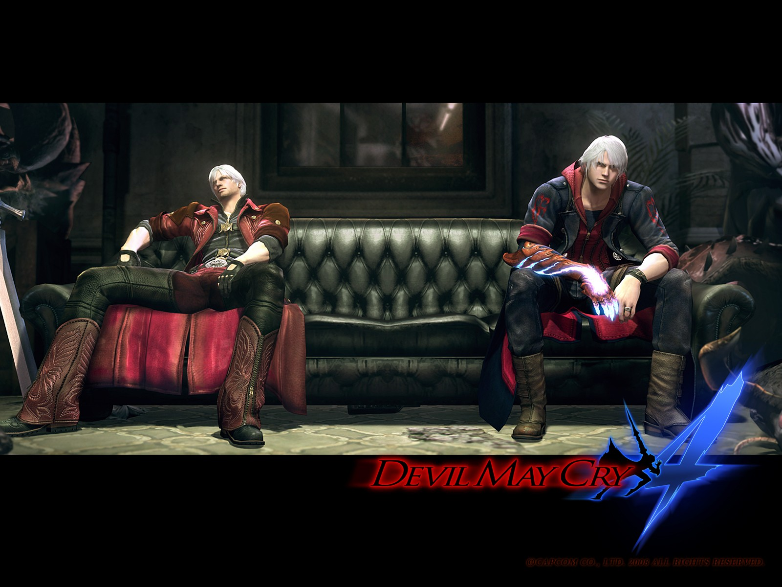 Devil may cry 4 art picture unlocked mission dante nero together sofa dante and nero fight