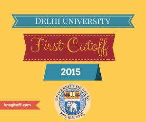 DU First Cutoff 2015