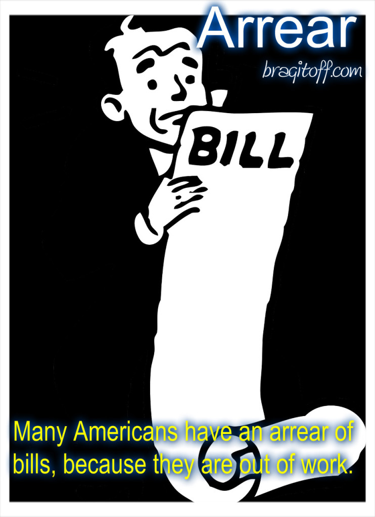 image sentence: Many Americans have an arrear of bills because they are out of work.