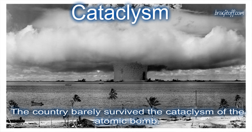 image sentence: Th country barely survived the cataclysm caused by the atomic bomb.