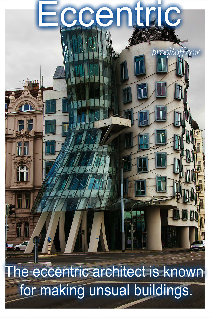 skew building tilted crooked eccentric strange weird building