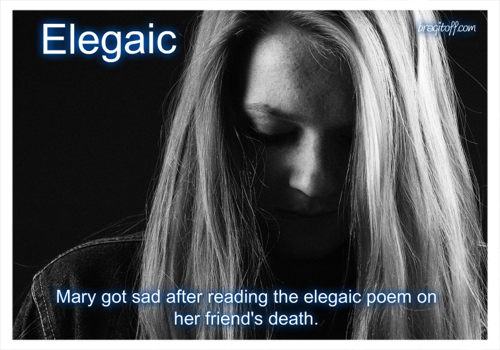 image sentence: Mary got said after reading the elegaic poem