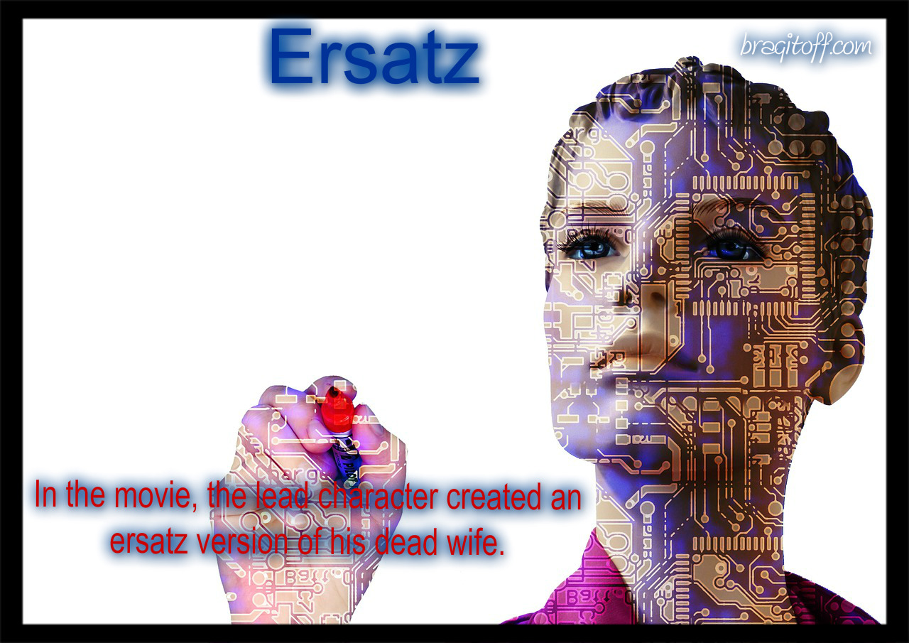 image definition visual definition meaning visual dictionary for the word ersatz
