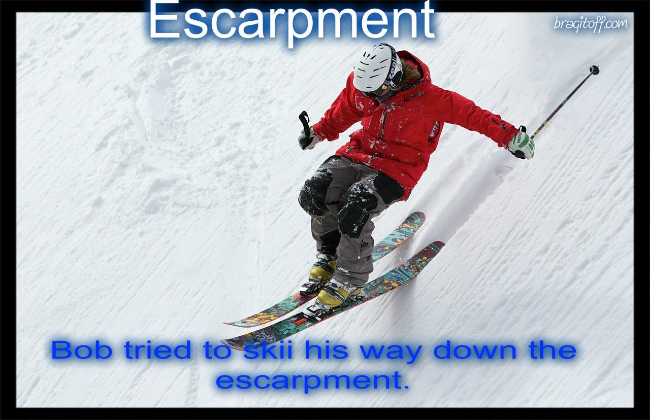 escarpment definition visual image bragitoff dictionary
