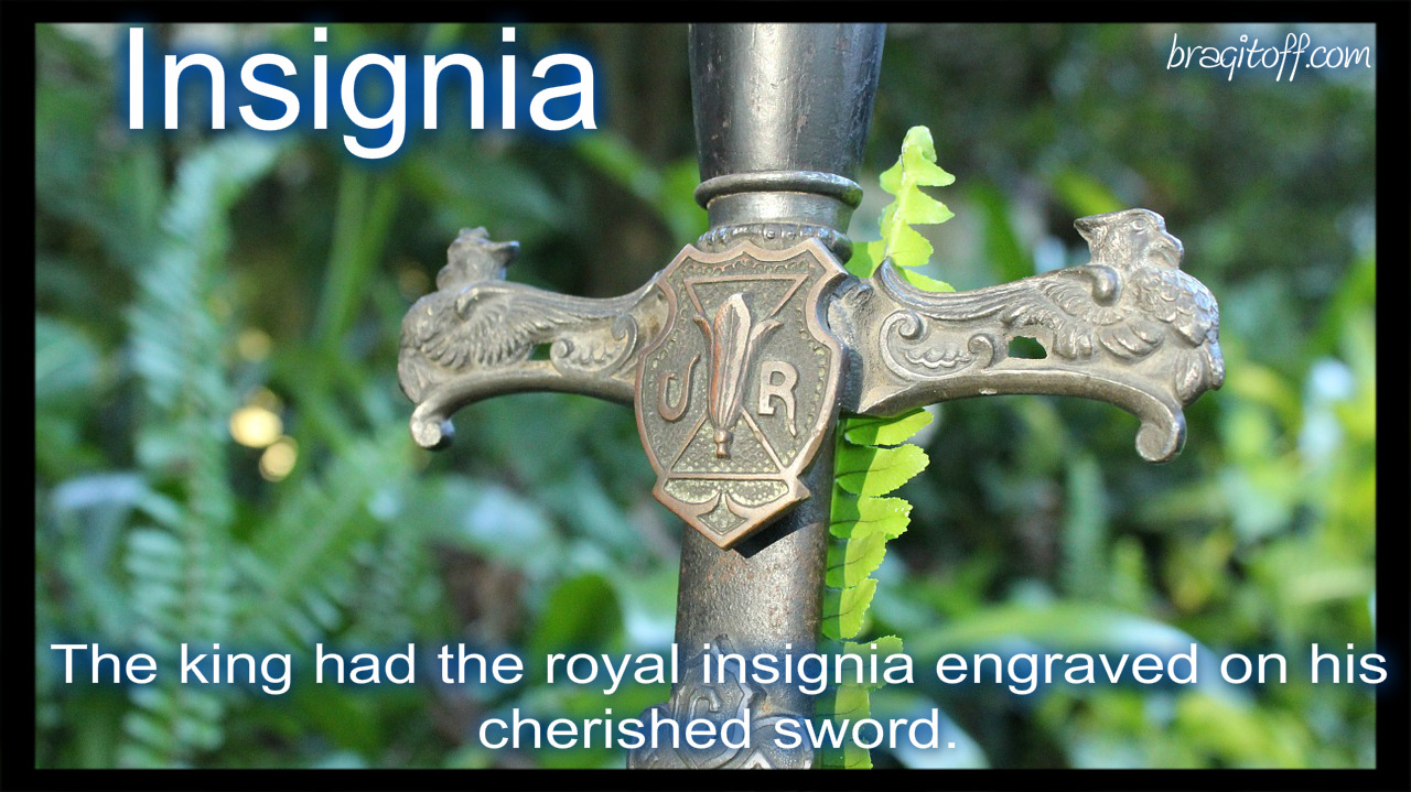 Royal sword in the ground with engravings