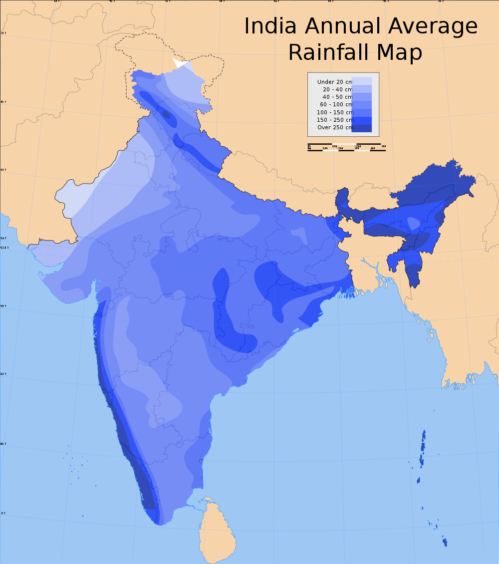 India-Annual-Rainfall-Map