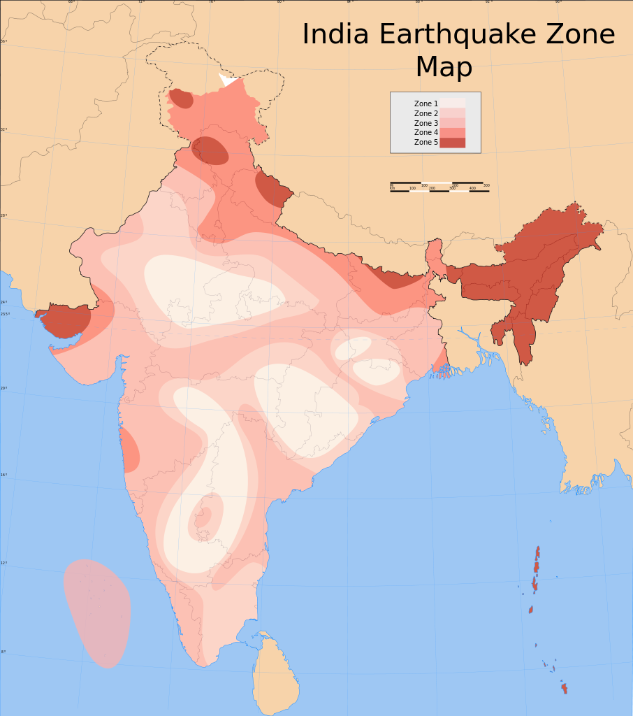 India-Earthquake-Zone-Map