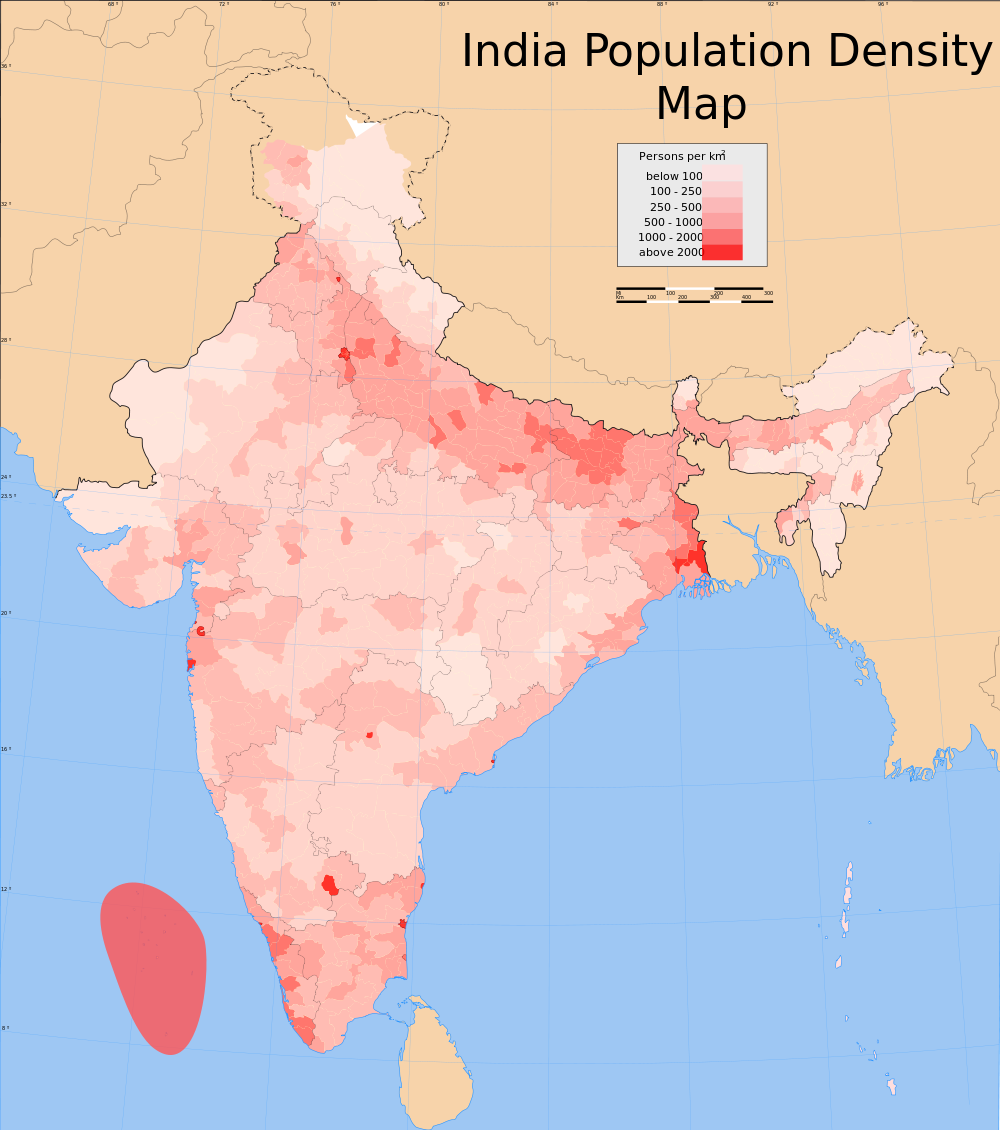 India-Population-Density-Map