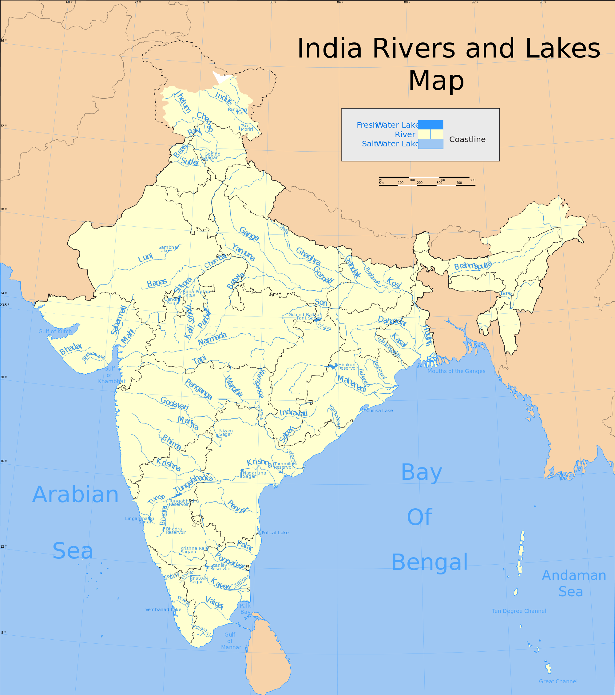 India-Rivers-and-Lakes-Map