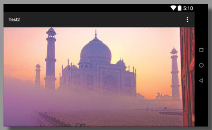 The Background image gets cropped to maintain the aspect ratio in landscape mode